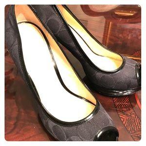 Black Coach Heels Size 7.5